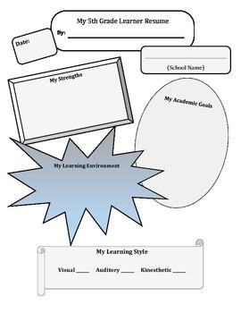 5th Grade Learner Resume