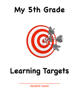 5th Grade Learning Target Cover Sheet