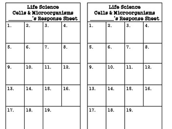 5th Grade Life Science Cells and Microorganisms Task Cards: S5L3;S5L4