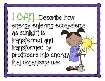 Ohio 5th Grade Life Science Standards- I Can Statements