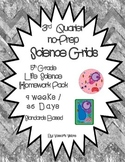 5th Grade Life Science Grids - 3rd Quarter Homework Pack...