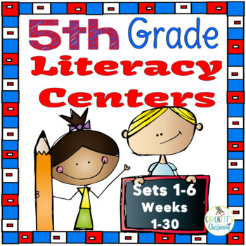 5th Grade Literacy Centers Bundle,  Sets 1- 6, {Aligned wi