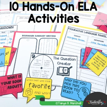 5th Grade Literacy Centers | Fifth Grade Hands-On Literacy Centers