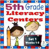 5th Grade Literacy Centers Set 1