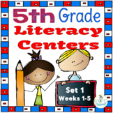 5th Grade Literacy Centers Set 1