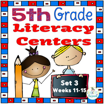 5th Grade Literacy Centers Set 3, {Aligned with Journeys by HMH}