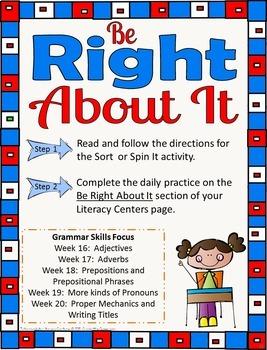 5th Grade Literacy Centers Set 4