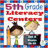 5th Grade Literacy Centers Set 6