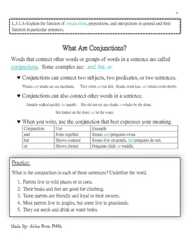 5th Grade Literacy Lessons