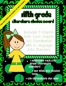 5th Grade Literature Choice Board with Graphic Aids- Task