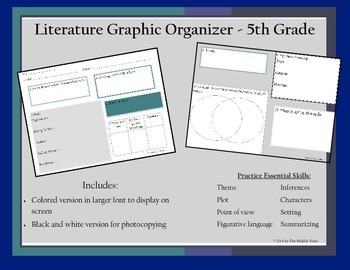 5th Grade Literature Graphic Organizer