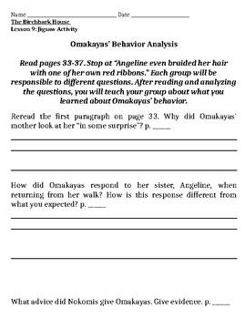 Awe Inspiring 5Th Grade Louisiana Guidebooks The Birchbark House Jigsaw Activity Lesson 9 Download Free Architecture Designs Intelgarnamadebymaigaardcom