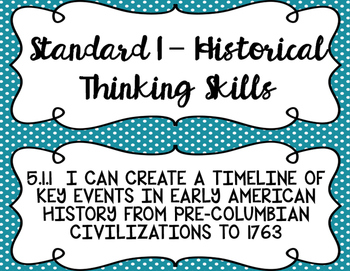 5th Grade Louisiana Social Studies State Standard I Can Statements