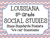 5th Grade Louisiana Social Studies State Standards