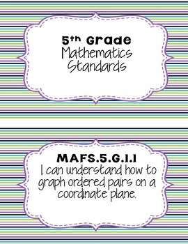 5th Grade MAFS I Can Statements