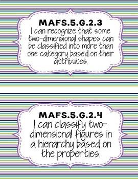 5th Grade MAFS I Can Statements