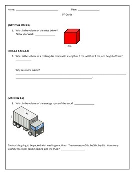 5th Grade MAFS/ common core  boot camp packet