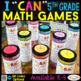 5th Grade MATH BUNDLE | Spiral Review, Games & Quizzes | ENTIRE YEAR