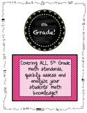 5th Grade MATH Beginning of the Year Pre-Assessment ALL STANDARDS