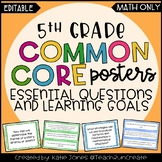 5th Grade MATH Common Core {EQs & Learning Goals - Marzano