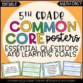 5th Grade MATH Common Core {EQs & Learning Goals - Marzano
