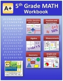 """A+ Math"" 5th Grade Math Workbook (Worksheets, Exams and A"