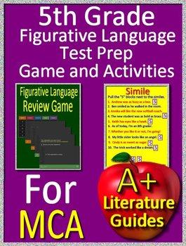 5th Grade MCA Test Prep - Figurative Language Game and Google Activities