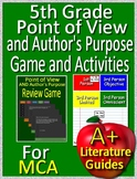 5th Grade Test Prep - Point of View and Author's Purpose Game + Activities