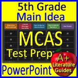 5th Grade MCAS Test Prep Main Idea and Citing Evidence Review Game