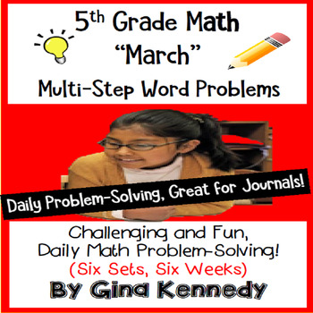 Daily Problem Solving for 5th Grade: March Word Problems (