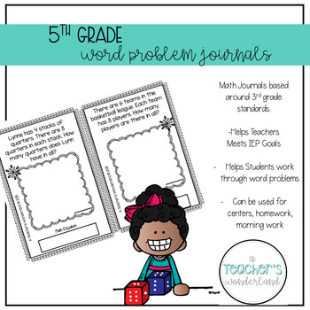 5th Grade March Word Problem Journals