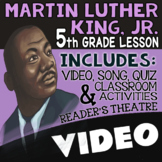 5th Grade Martin Luther King Jr. Activities, Reading Passages, for MLK Day