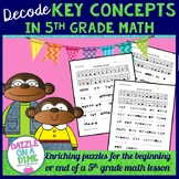 5th Grade Math Enrichment Puzzles