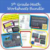 5th Grade Math Growing Bundle