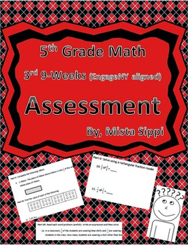 5th Grade Math 3rd 9-Weeks Assessment (EngageNY aligned wi