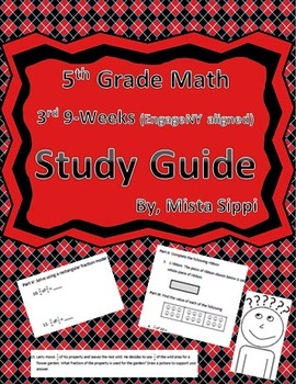 5th Grade Math 3rd 9-Weeks Study Guide (EngageNY aligned with Module 4)