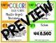 5th Grade Math 5NBT6 COLOR Task Cards Multi Digit Division for Jenga
