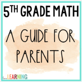 Distance Learning: 5th Grade Math - A Guide for Parents