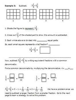 5th Grade Math - Add and Subtract Fractions and Mixed Numbers - 5.NF.1