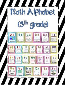 5th Grade Math Alphabet Black Stripes