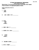 5th Grade Math Assessment [(CUMULATIVE) answer key included]