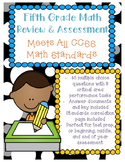 5th Grade Math Assessment - ALL CCSS Standards Test Prep Review