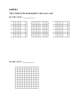 5th Grade Math Assessment (Powers of 10, Dividing Whole Numbers and Decimals)