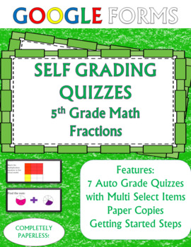 FRACTIONS 5th Grade Math Assessments Google Forms
