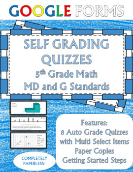 Geometry and Measurement 5th Grade Math Assessments Google Forms