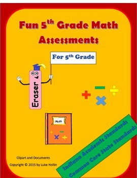 5th Grade Math Assessments for Indiana Academic Standards and Common Core