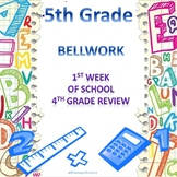 5th Grade Math Bellwork Week 1