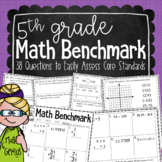 5th Grade Math Benchmark Assessment {designed to use three times per year}