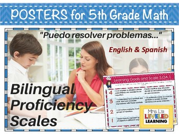 5th Grade Math Bilingual Proficiency Scales - English and Spanish