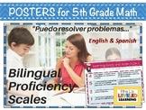 5th Grade Math Bilingual Proficiency Scales - English and Spanish